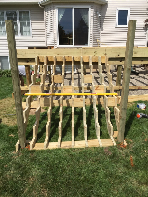 deck build stair before