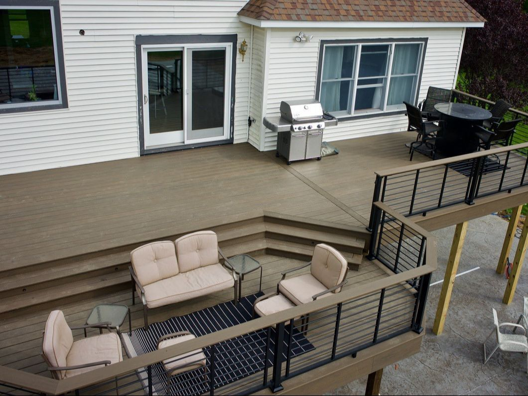 Byron Center, MI deck build drop floor multi levels